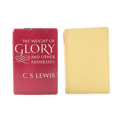 """The Great Divorce"" and ""The Weight of Glory"" by C. S. Lewis, circa 1940s"