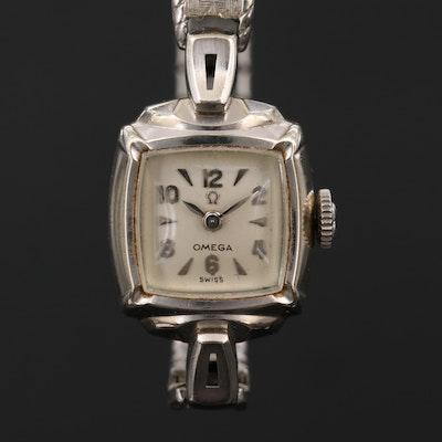 Vintage Omega 14K Gold Filled Stem Wind Wristwatch