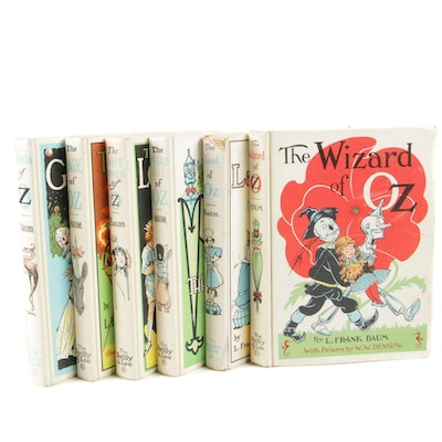 """""""The Wizard of Oz"""" Book Collection by L. Frank Baum, circa 1960s"""