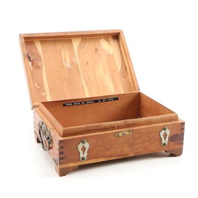 Cedar Treasure Chest Jewelry Box