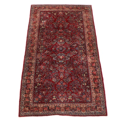 6'0 x 11'- Hand-Knotted Persian Mehriban Wool Rug