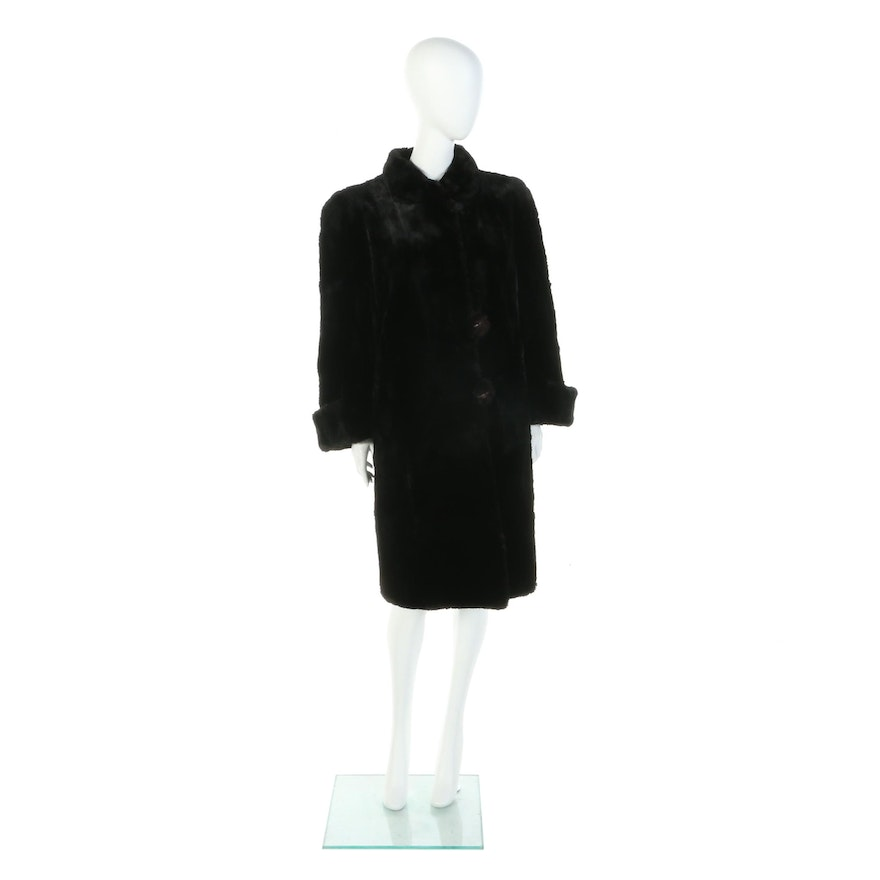 Dyed Sheared Beaver Fur Coat from J. Reichbart Co. Furs of New York, Late 1920s