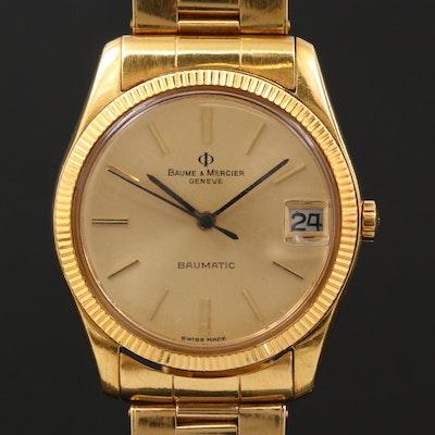 Baume & Mercier Baumatic 18K Gold Automatic Wristwatch, Vintage