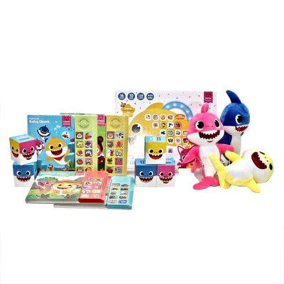 """""""Baby Shark"""" Melody Pad, Sound Books and Plush Toys by Pinkfong"""