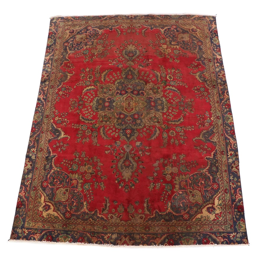 8'0 x 11'2 Hand-Knotted Persian Tabriz Wool Rug