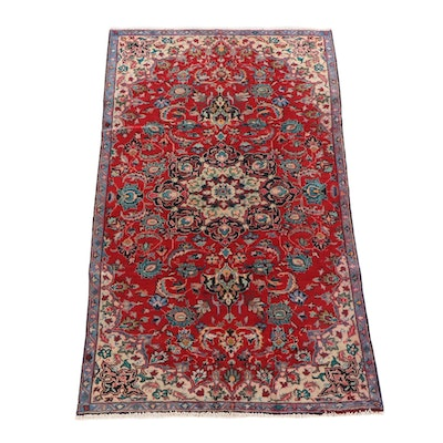 5'1 x 8'8 Hand-Knotted Persian Tabriz Wool Rug