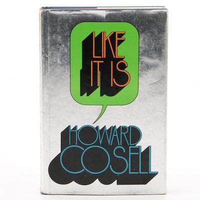 "Howard Cosell Signed ""Like It Is"" Hardbound Book  COA"
