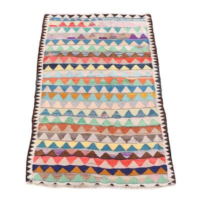 4'10 x 7'8 Handwoven Persian Kilim Wool Rug