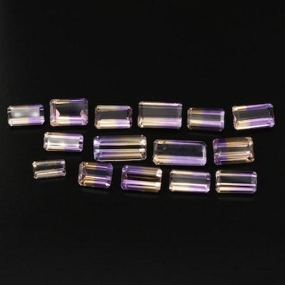 Loose 89.78 CTW Ametrine Gemstones