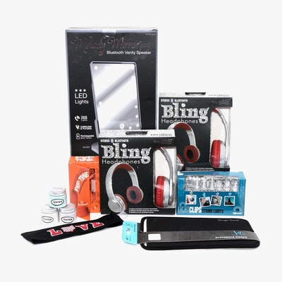Wireless Express Bluetooth Vanity Mirror, Microphone, Headphones and More