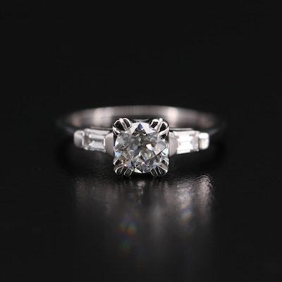 Platinum 1.06 CTW Diamond Ring