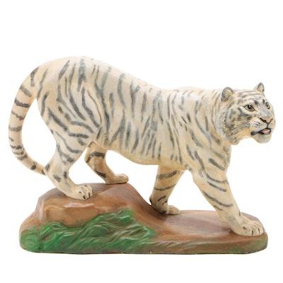 Holland Mold Ceramic White Tiger Figurine