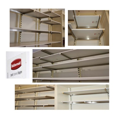 Rubbermaid White Laminated Plywood Shelving Assortment