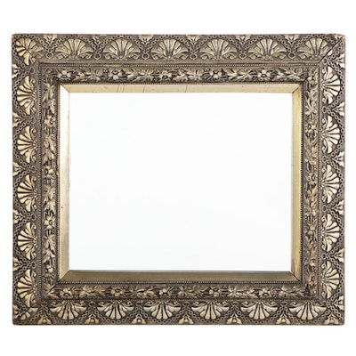 Late Victorian Silver-Leafed Framed Mirror, Late 19th / Early 20th Century