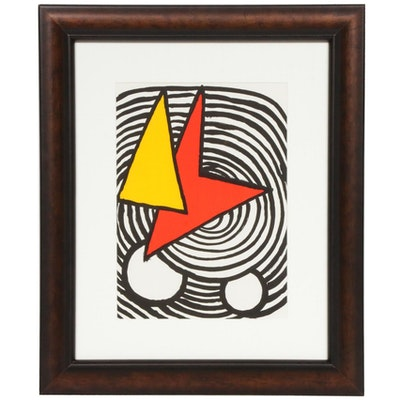 "Alexander Calder Color Lithograph for ""Derrière le Miroir,"" 1973"