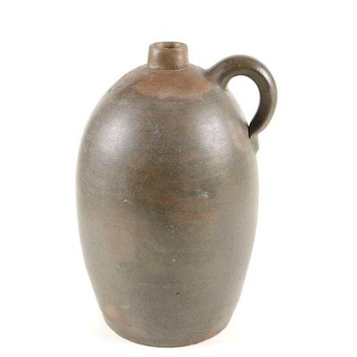 H. Melcher Louisville, KY Stoneware Pottery Two Gallon Vessel Vintage