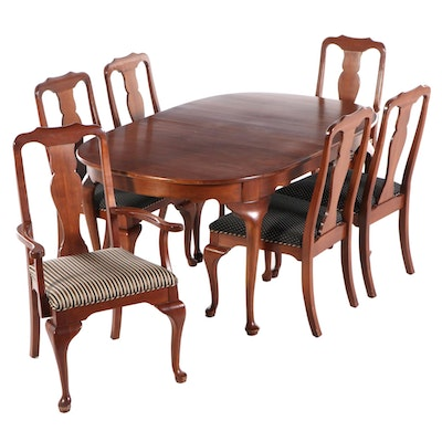 Harden Queen Anne Style Cherry Dining Set, Mid to Late 20th Century