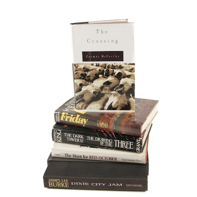 """Fiction Books Including First Edition """"The Crossing"""" and Signed """"Dixie City Jam"""""""