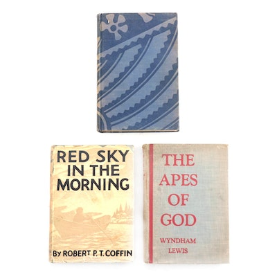 """First Edition Novels Including Signed """"Red Sky in the Morning"""" by Robert Coffin"""