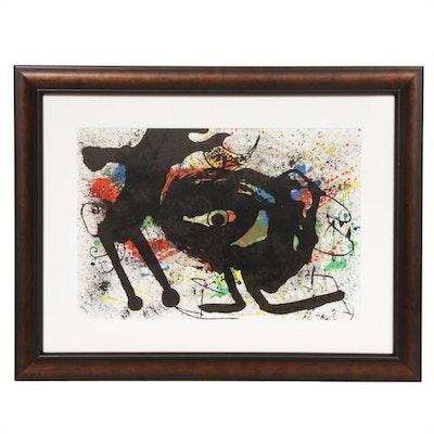 """Joan Miró Double-Page Color Lithograph for """"Derrière le Miroir,"""" 1973"""