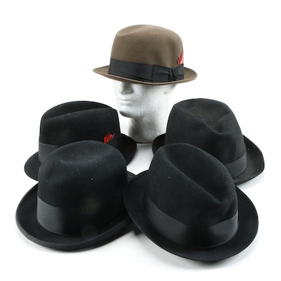 Thomas Begg Fur Felt Homburg and Bowler Hats and Hatbox