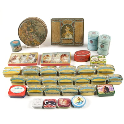 American and European Tinlitho Advertisement Tins