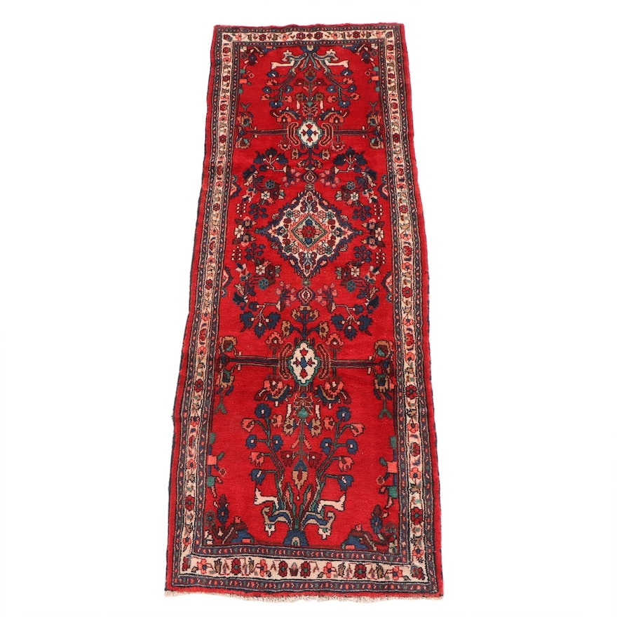 3'9 x 10'9 Hand-Knotted Persian Arak Wool Long Rug