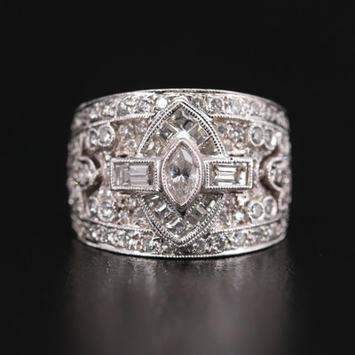 Platinum 2.01 CTW Diamond Ring