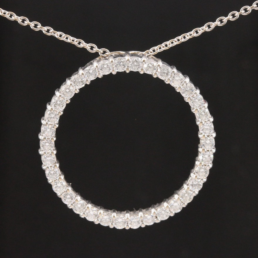 Roberto Coin 18K White Gold 2.12 CTW Diamond Pendant Necklace