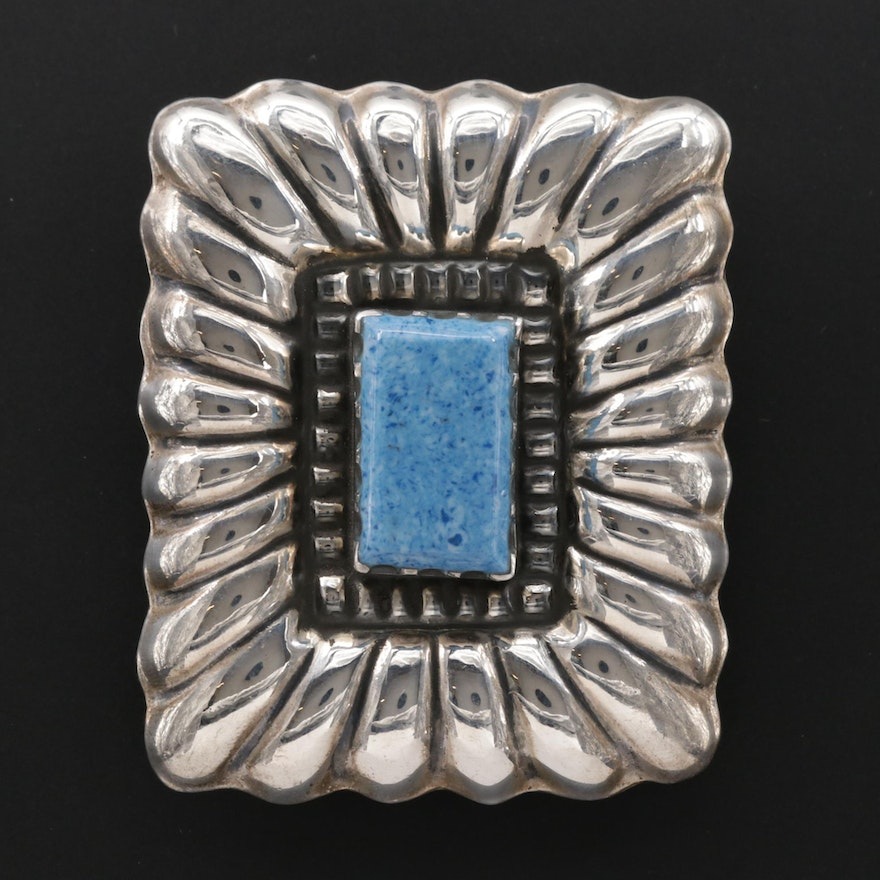 Mexican Sterling Silver Converter Brooch