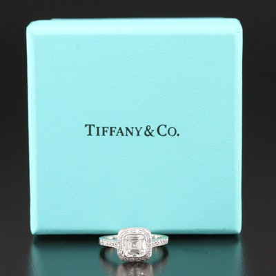 "Tiffany & Co. ""Legacy"" Platinum 1.46 CTW Diamond Ring with Ring Boxes"