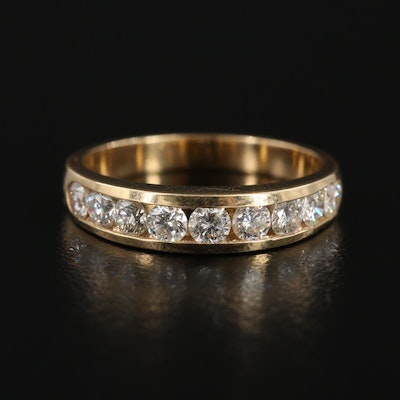 14K Yellow Gold Diamond Channel Ring