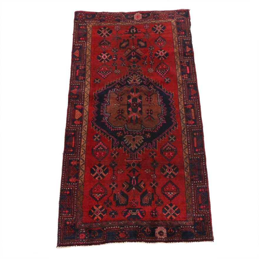 3'11 x 7'10 Hand-Knotted Persian Ardabil Wool Rug
