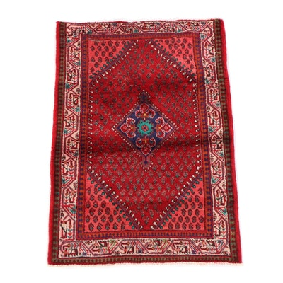 3'4 x 5'0 Hand-Knotted Persian Everu Wool Rug