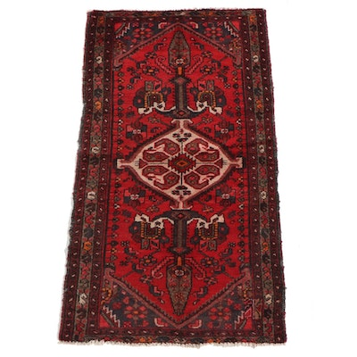 3'4 x 6'0 Hand-Knotted Persian Zenjan Wool Rug