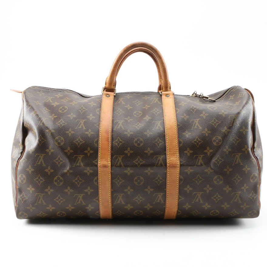 Louis Vuitton Keepall 50 in Monogram Canvas and Leather