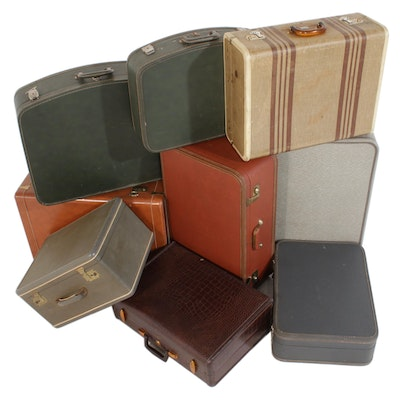 Suitcases Including Samsonite and Excelsior, Mid to Late 20th Century