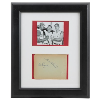 Robinson, Kluszewski and Bailey Cut Signatures with Picture, Framed  COA