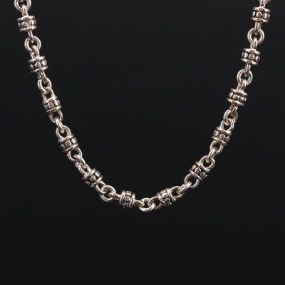 Michael Dawkins Sterling Silver Beaded Necklace