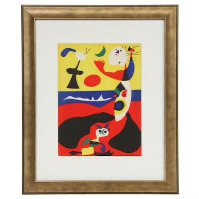 """Joan Miró Color Lithograph """"L'Été"""" for """"Verve,"""" 1938"""