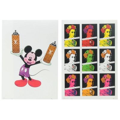 Death NYC Graphic Offset Lithograph Prints