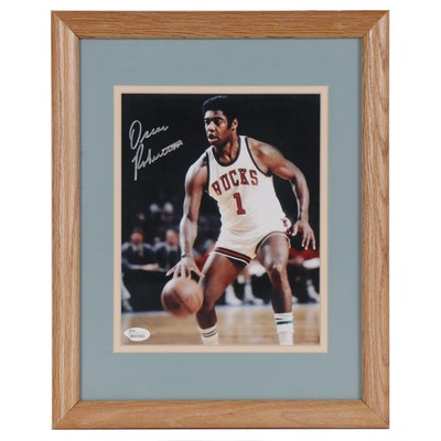Oscar Robertson Signed Photo Print, Framed  COA