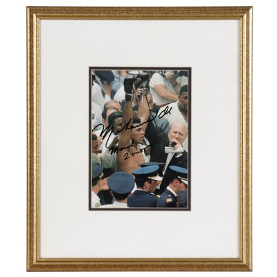 Muhammad Ali Signed  and Dated Print, Framed   COA