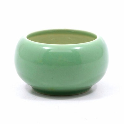 Rookwood Pottery Green Planter Pot, Mid-20th Century