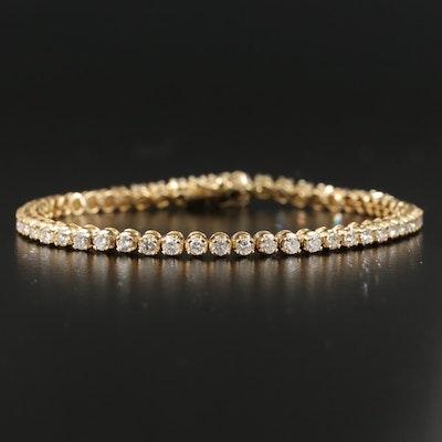 14K Yellow Gold 2.97 CTW Diamond Line Bracelet