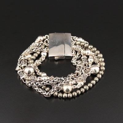 Michael Dawkins Sterling Silver Marcasite Bracelet