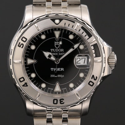 Tudor Tiger Prince Date  Hydronaut Stainless Steel Automatic Wristwatch