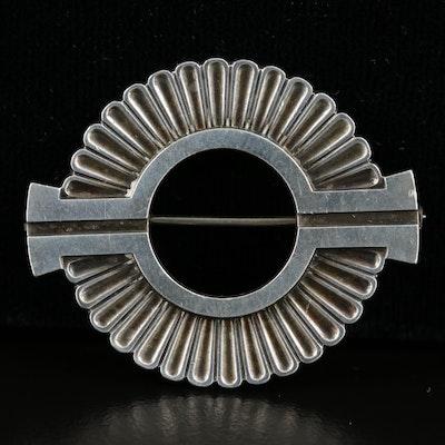 Georg Jensen Modernist Sterling Silver Brooch