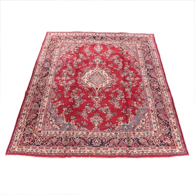 10'0 x 13'2 Hand-Knotted Persian Kerman Room Sized Wool Rug