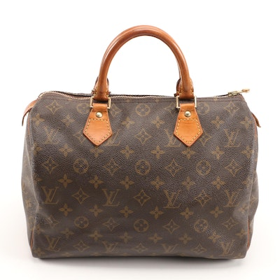 Louis Vuitton Speedy 30 Bag in Monogram Canvas and Leather